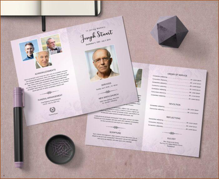 Funeral Program Template Word