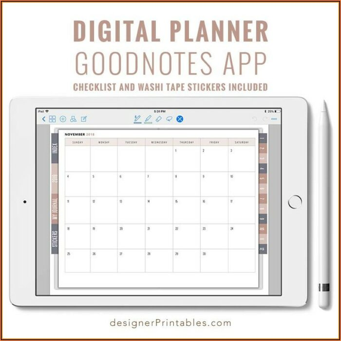 Goodnotes Planner Template Pdf