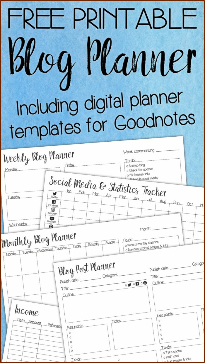 Goodnotes Planner Templates