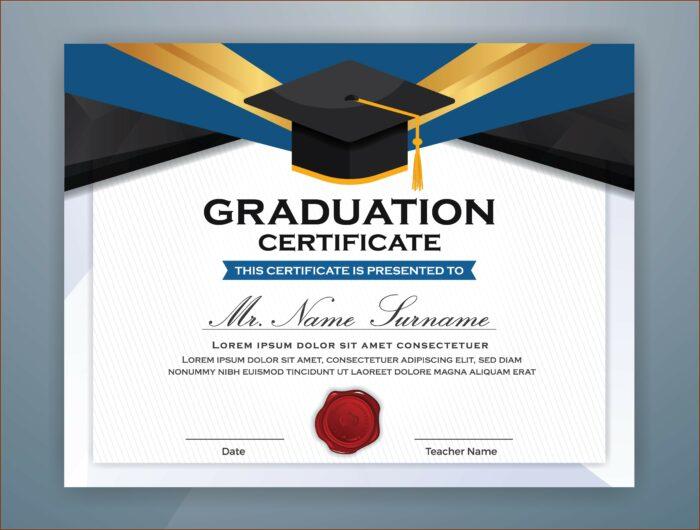 Graduation Certificate Template For Elementary School