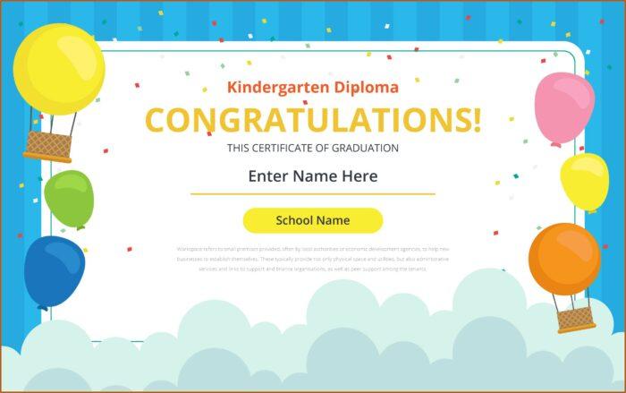 Graduation Certificates Templates For Kindergarten