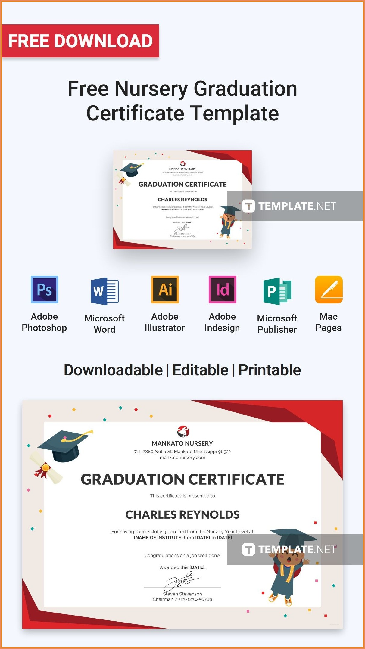 Graduation Certificates Templates Free