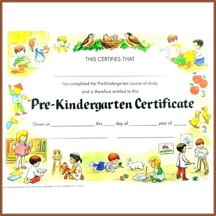 Graduation Certificates Templates Preschool