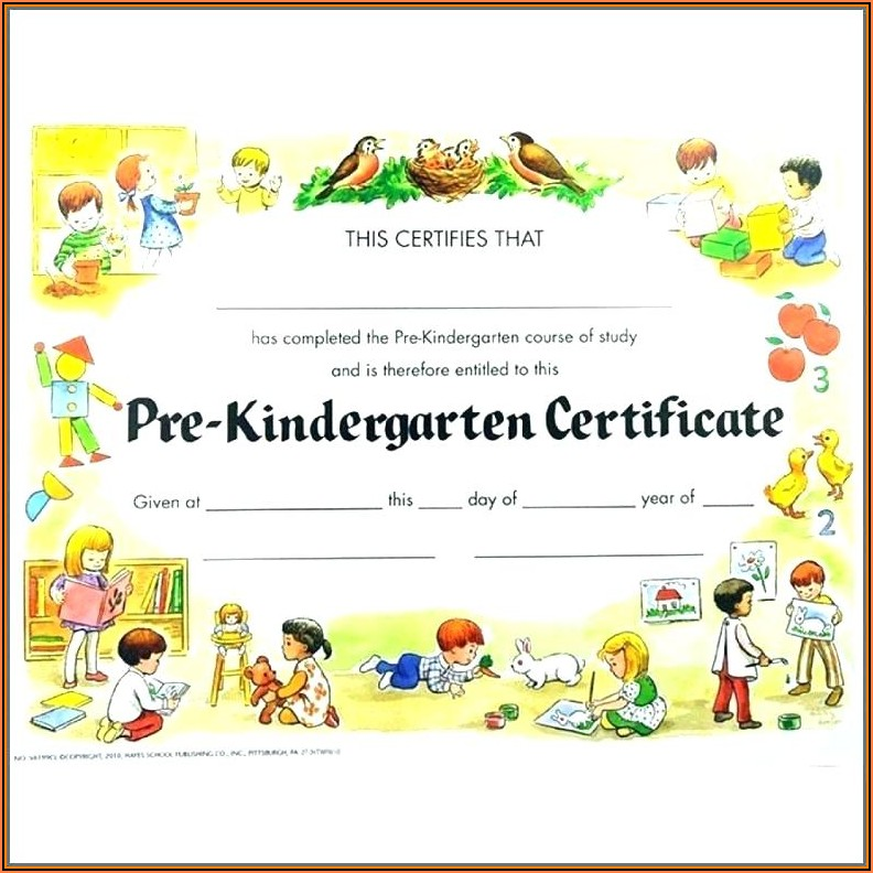 Graduation Certificates Templates Preschool