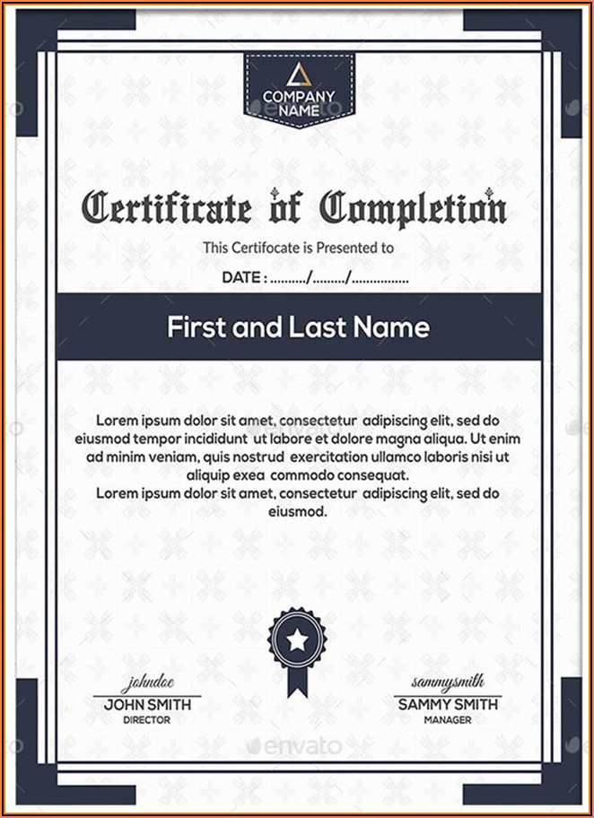 Graduation Certificates Templates Word