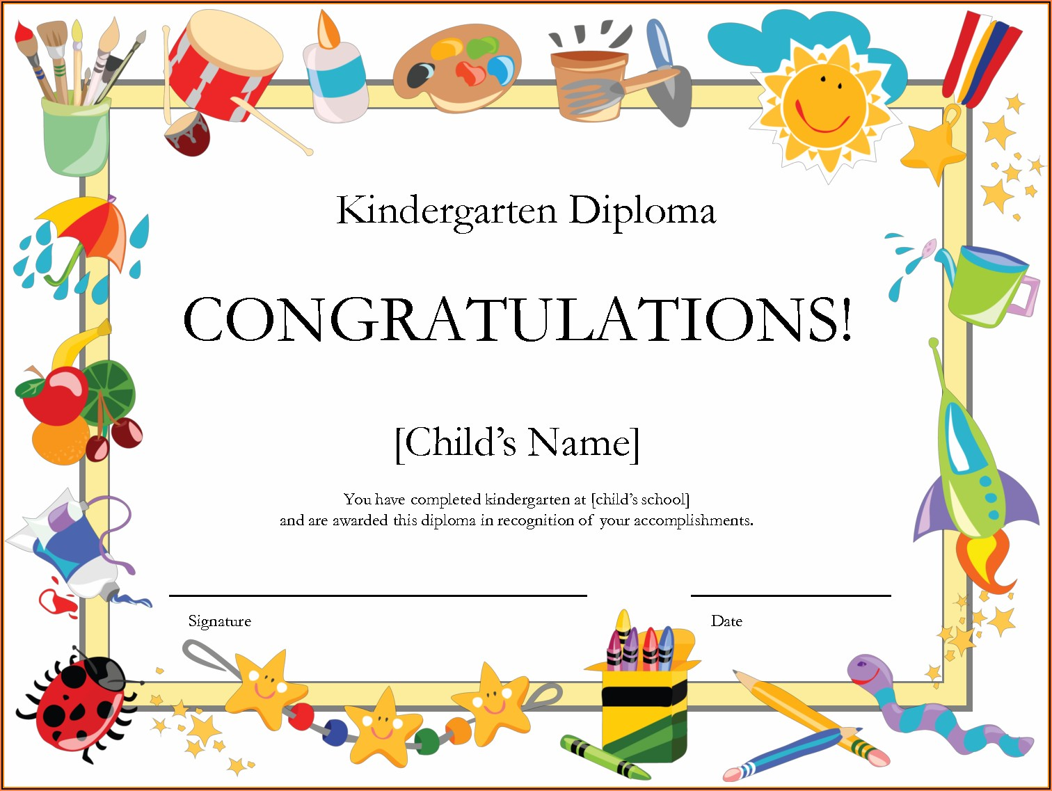 Graduation Certificates Templates