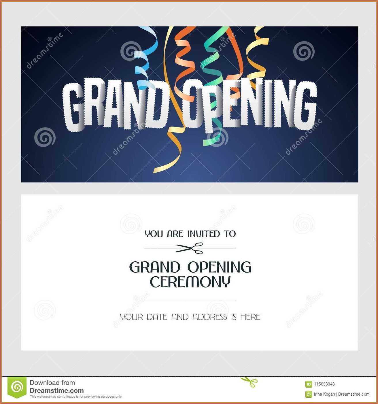 Grand Opening Invitation Template Free Download