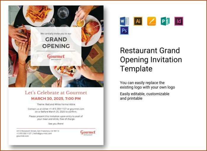 Grand Opening Invitation Template Word