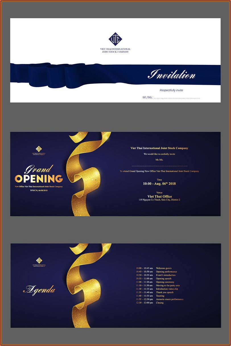 Grand Opening Invitation Templates Free Download