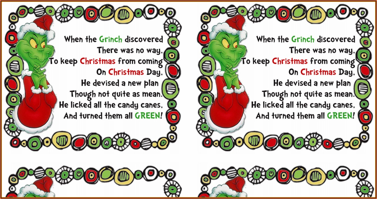 Grinch Tic Tac Label Template