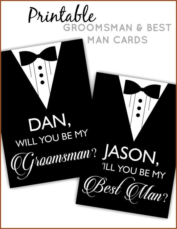 Groomsmen Proposal Template Free
