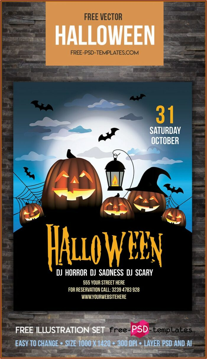 Halloween Party Flyer Template Free