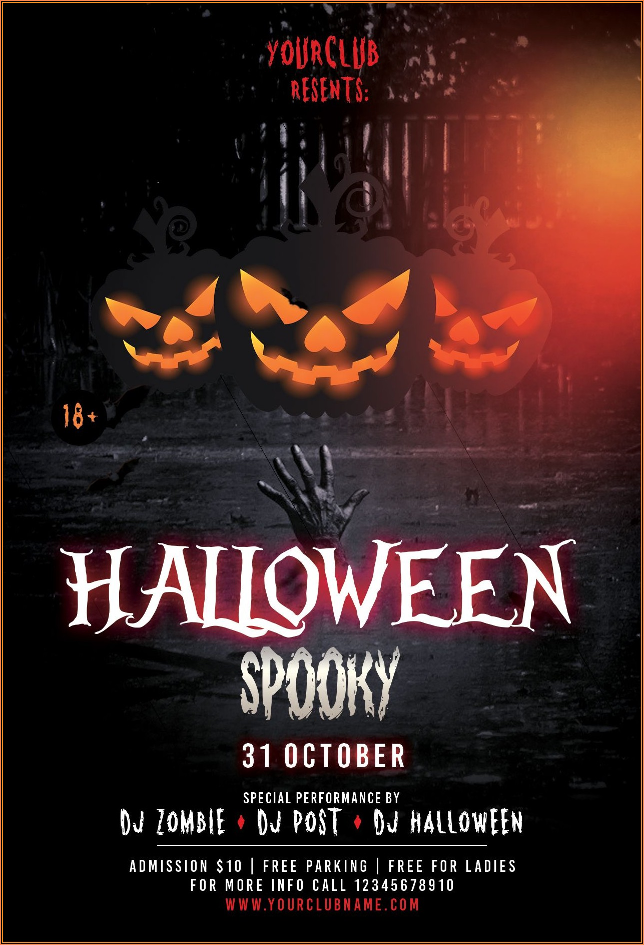 Halloween Party Flyer Template Free Word