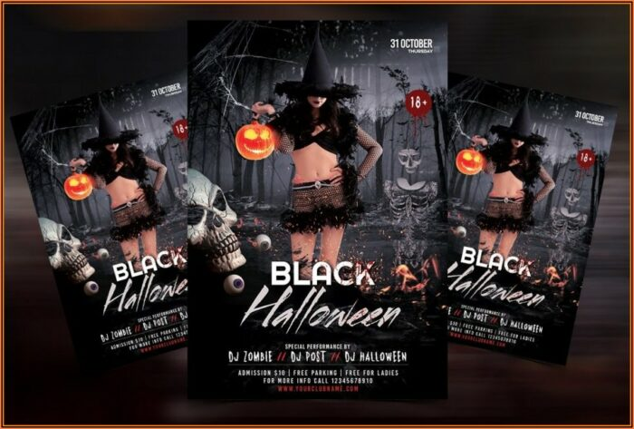 Halloween Party Flyer Template Psd