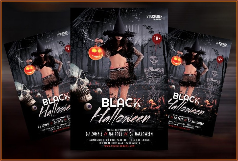 Halloween Party Flyer Template Psd