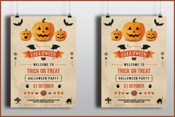 Halloween Party Flyer Template Word