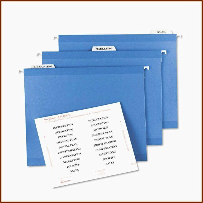 Hanging File Folder Label Template Free