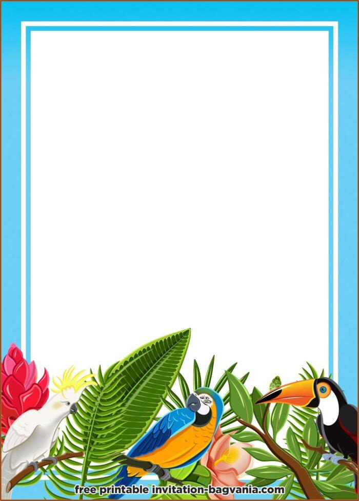 Hawaiian Invitations Templates Free