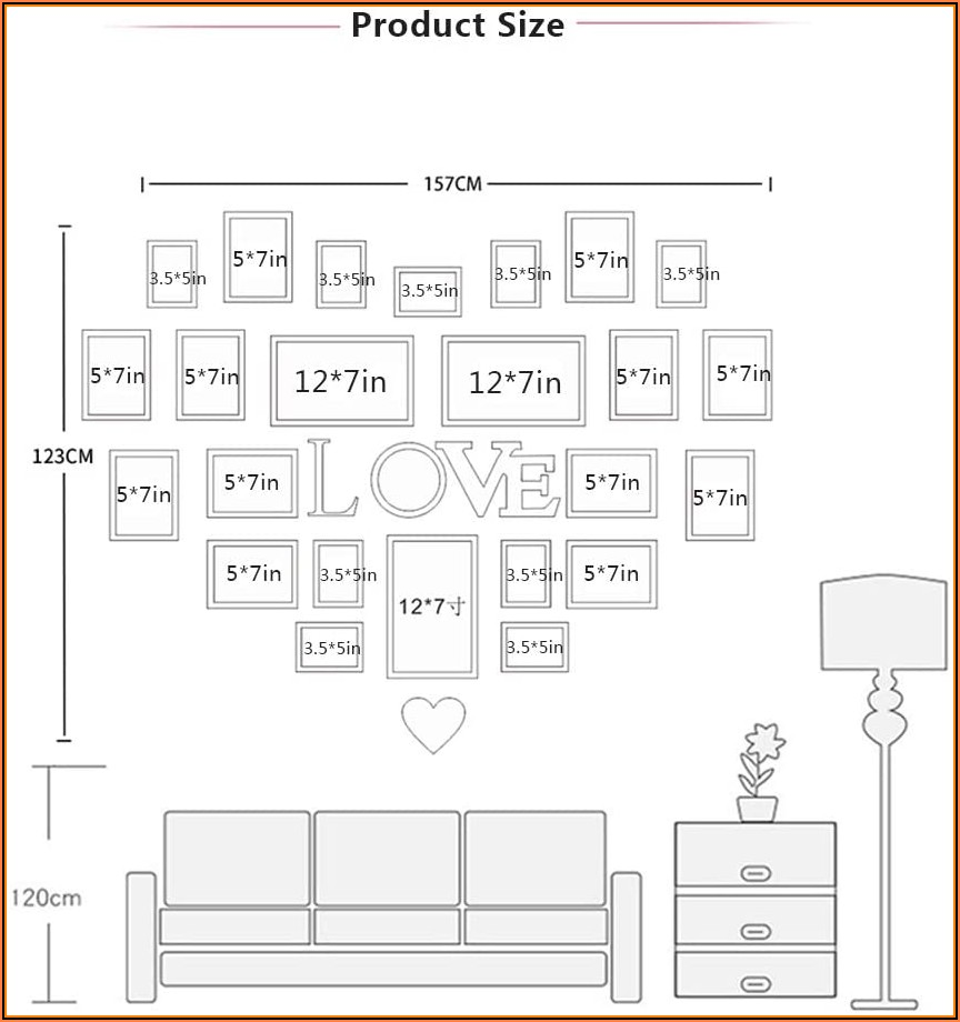 Heart Wall Collage Template