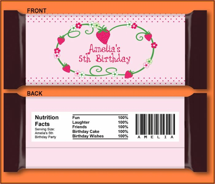 Hershey Candy Bar Wrapper Template Free