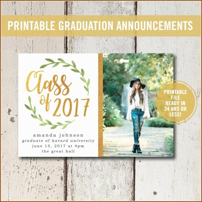 High School Graduation Invitations Free Templates
