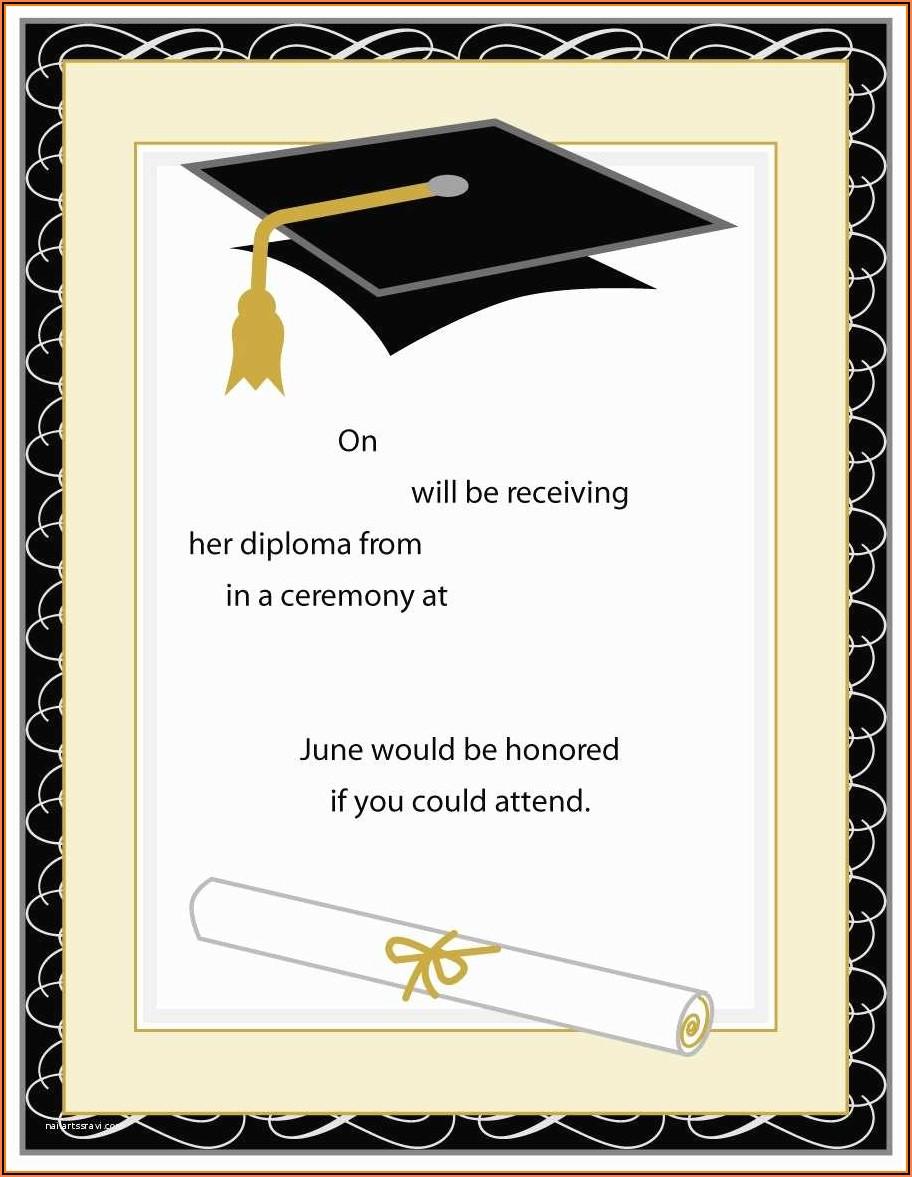 High School Graduation Templates Free