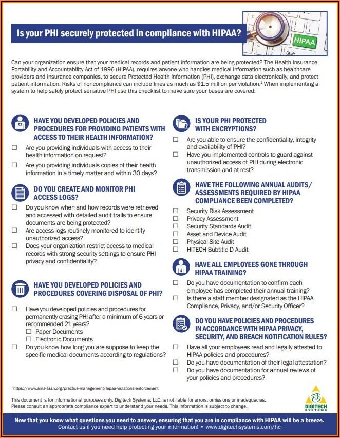 Hipaa Policies And Procedures Examples