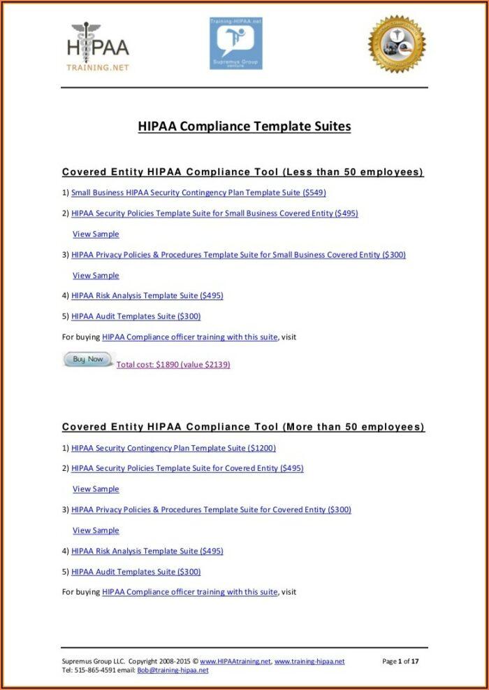 Hipaa Policy Samples
