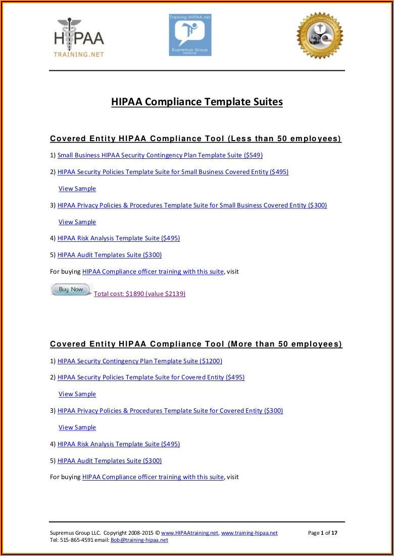 Hipaa Policy Samples