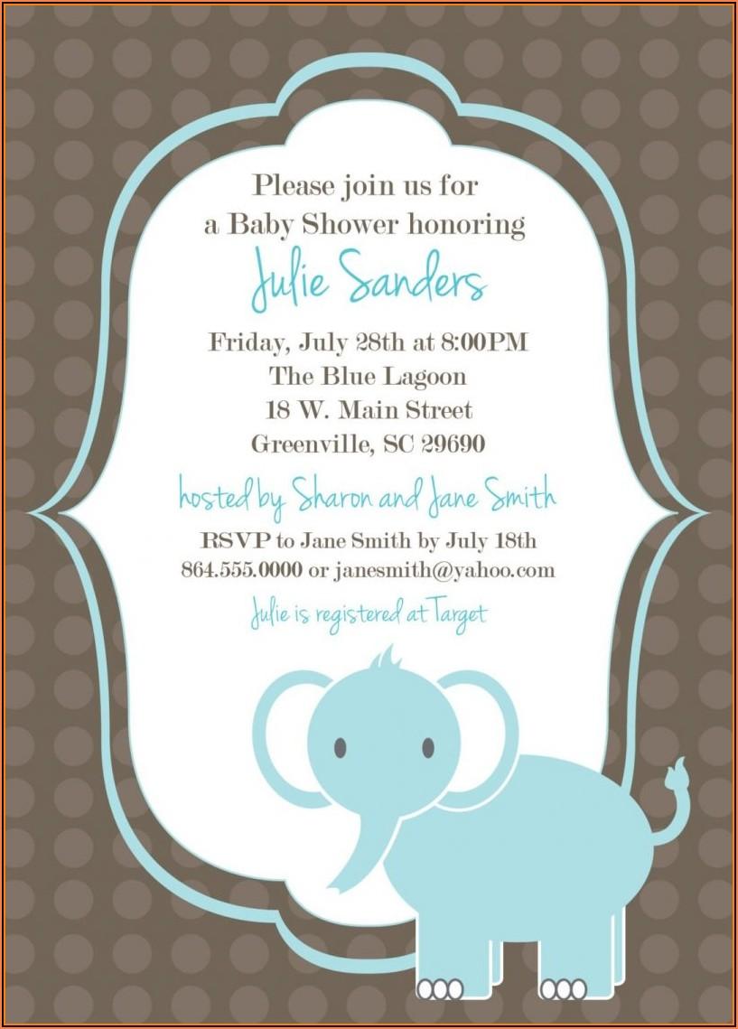 Hobby Lobby Baby Shower Invitation Templates
