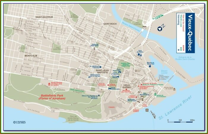 Hotels Quebec City Old Town Map
