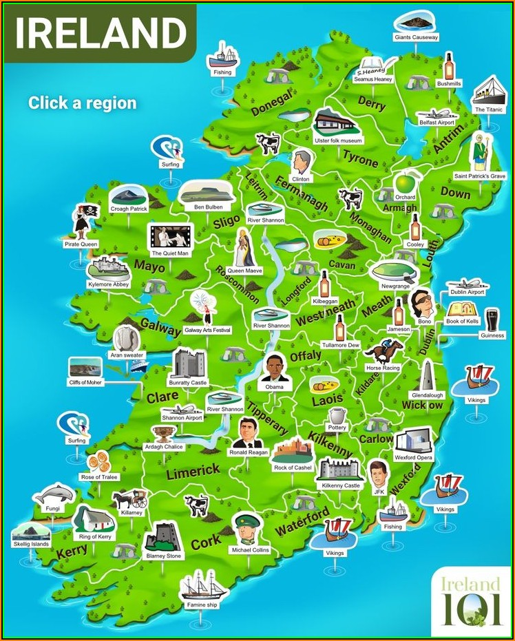 Interactive Travel Map Of Ireland