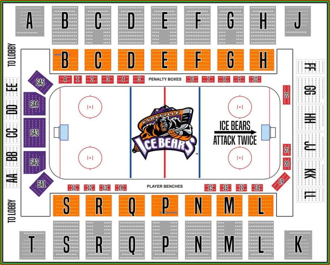 Knoxville Civic Coliseum Seating Map