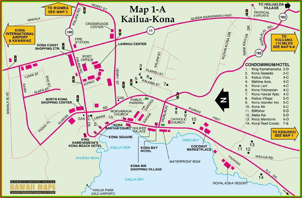 Kona Hotel Map