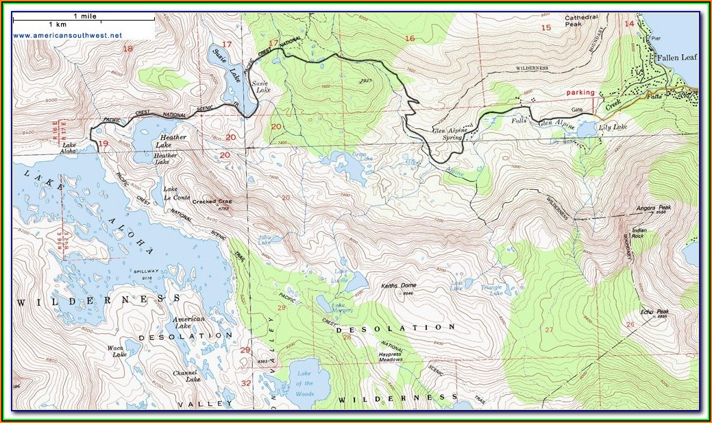 Lake Tahoe South Shore Hotels Map
