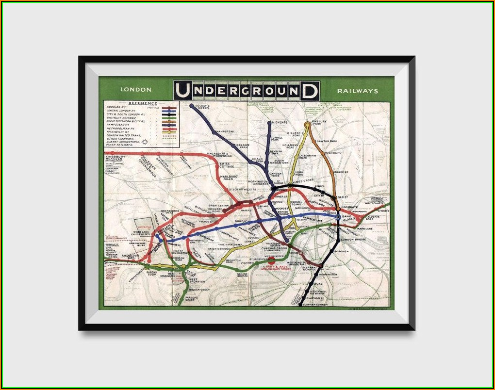 London Underground Map Wall Art