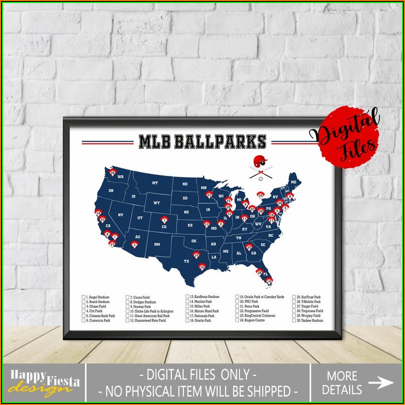 Major League Ballparks Map
