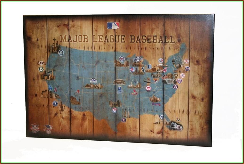 Major League Baseball Teams Map