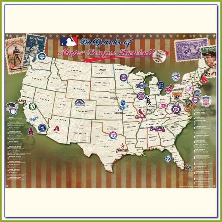 Major League Baseball Teams Maps