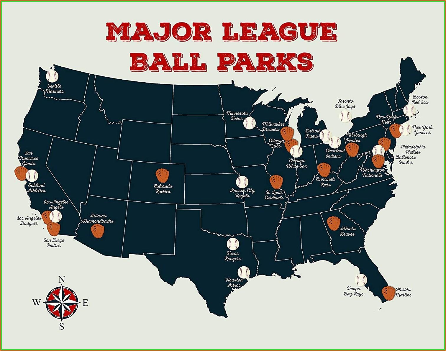Major League Baseball Teams Us Map