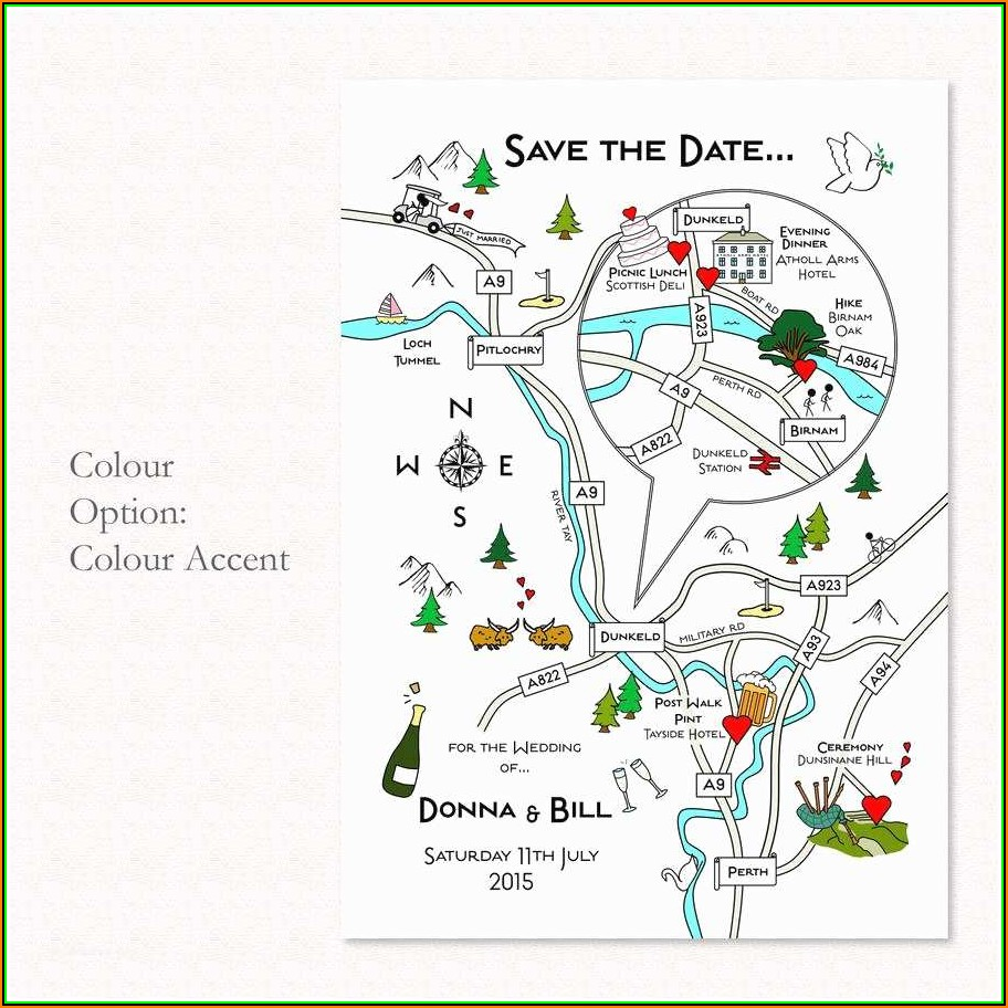 Map For Wedding Invitation
