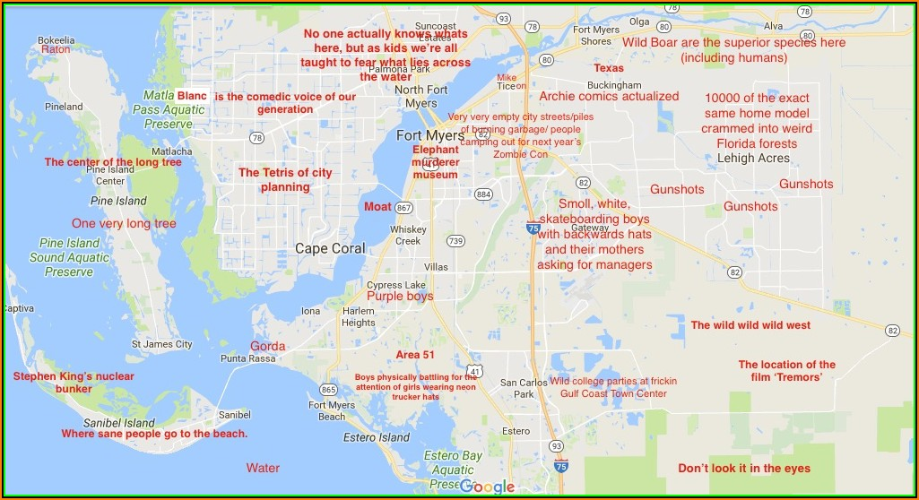 Map Fort Myers Florida