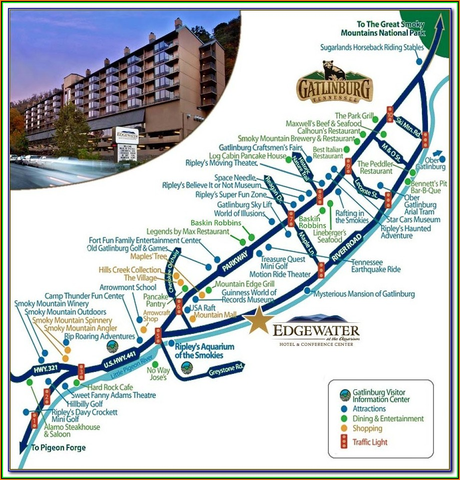 Map Of Branson Mo Hotels And Attractions