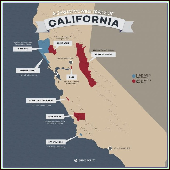 Map Of California Wineries