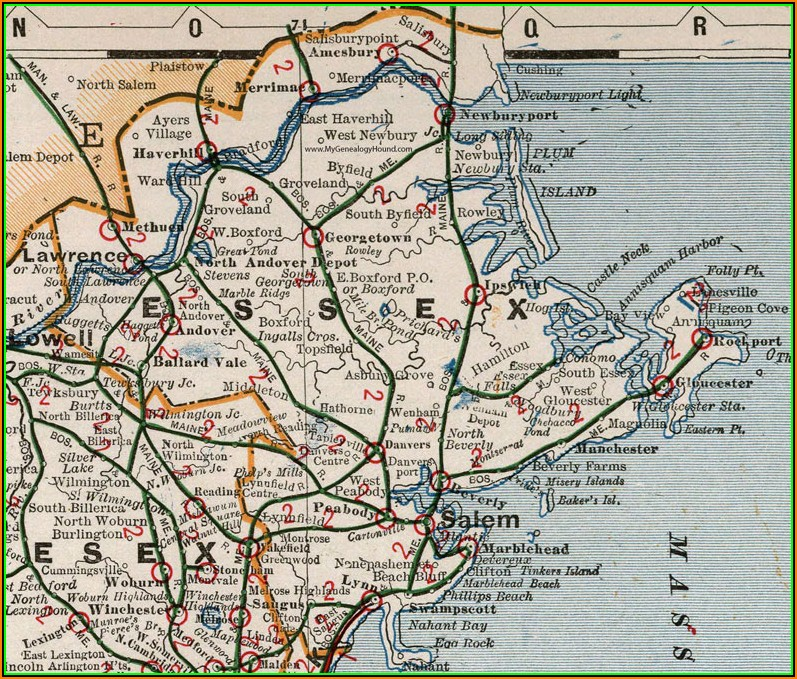 Map Of Cape Ann Ma
