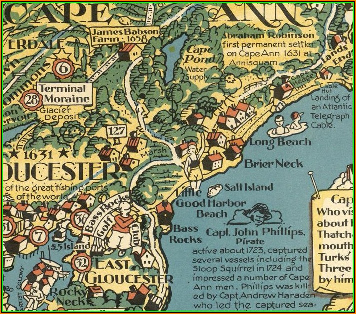 Map Of Cape Ann