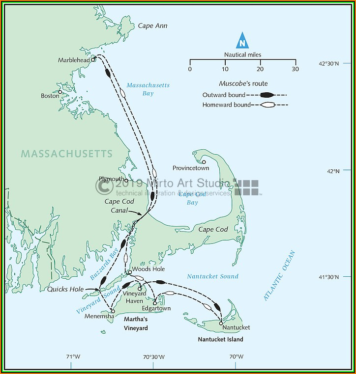 Map Of Cape Cod And Cape Ann