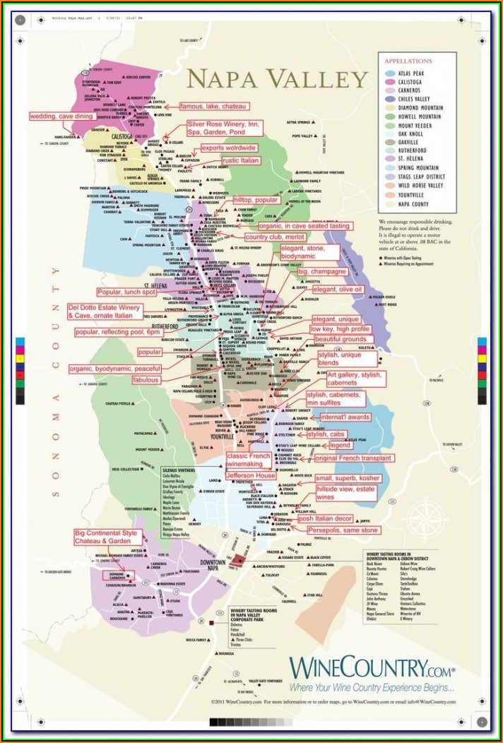 Map Of Central California Wineries