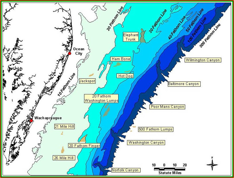 Map Of Chesapeake Bay Fishing Spots