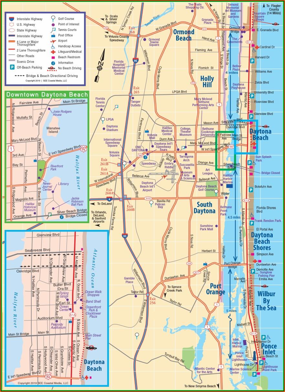 Map Of Daytona Beach Shores Hotels